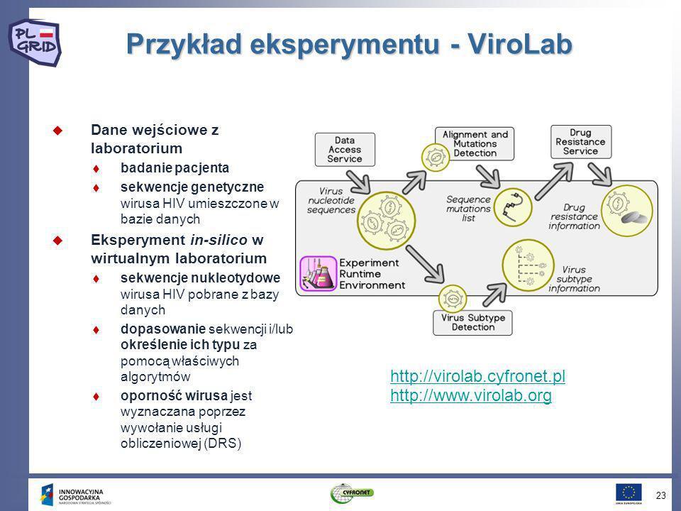 Przykład eksperymentu - ViroLab