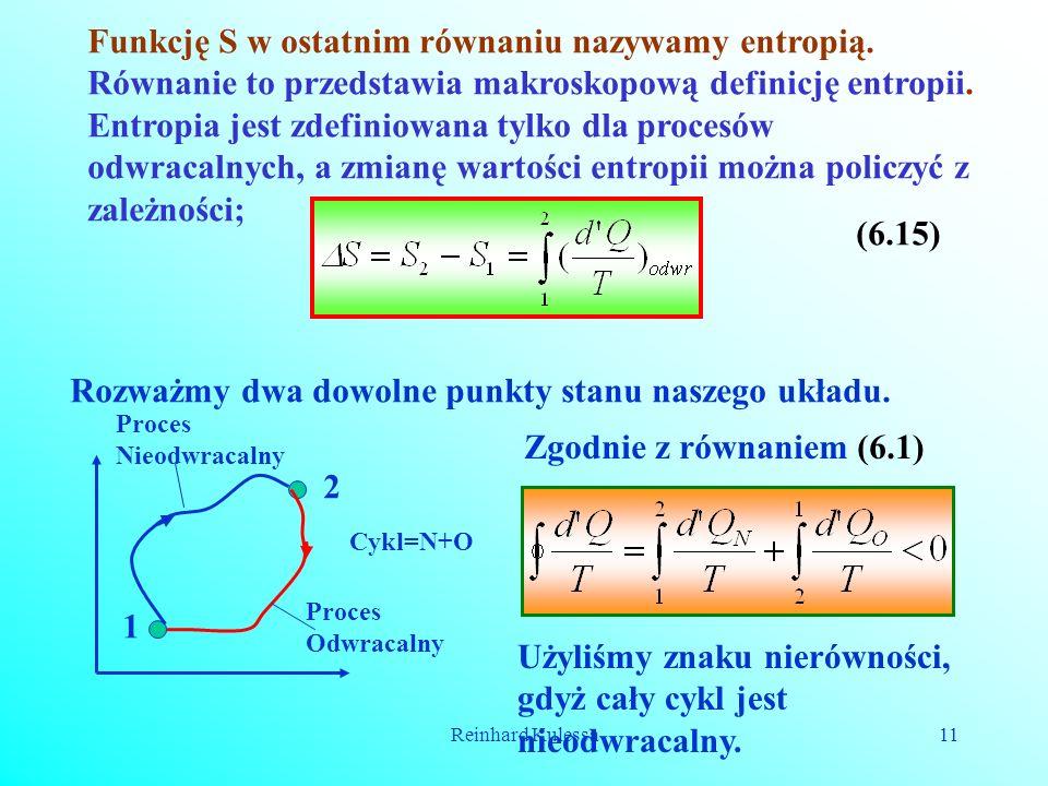 Funkcję S w ostatnim równaniu nazywamy entropią.