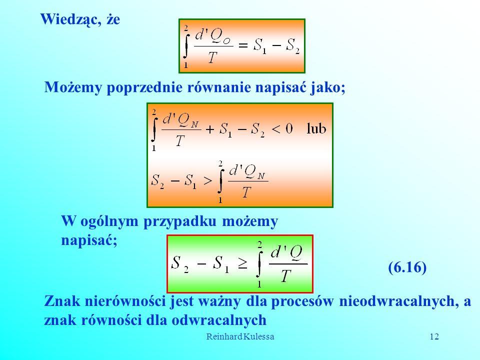 Możemy poprzednie równanie napisać jako;