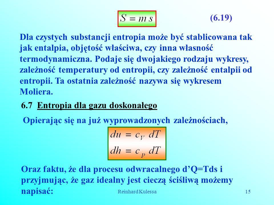 6.7 Entropia dla gazu doskonałego