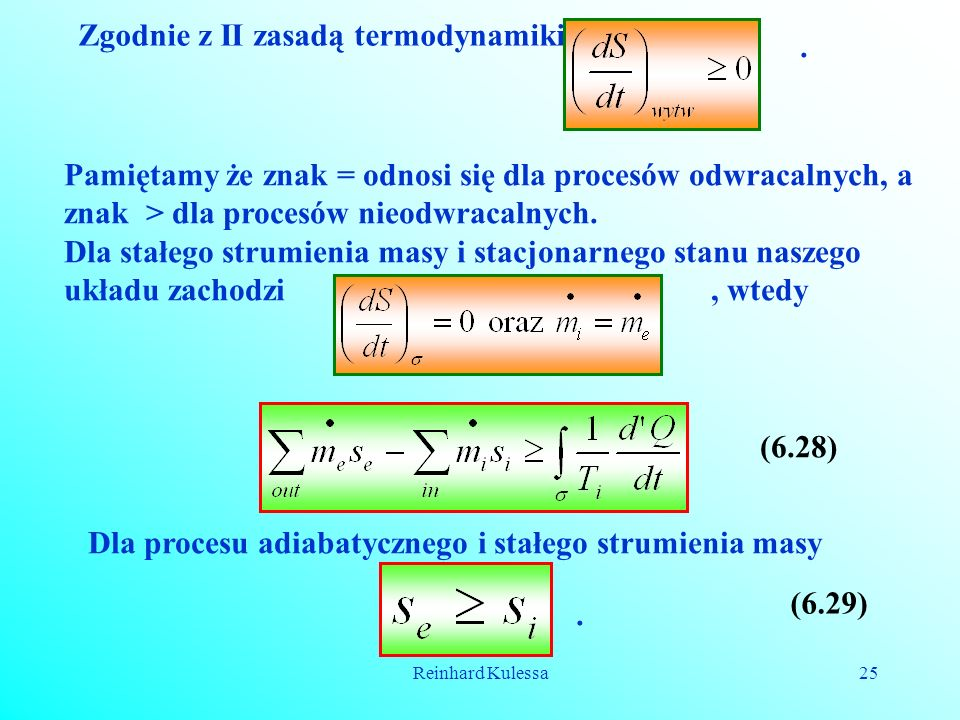 Zgodnie z II zasadą termodynamiki .