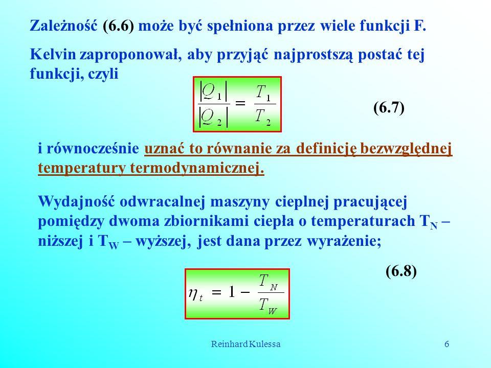 Zależność (6.6) może być spełniona przez wiele funkcji F.