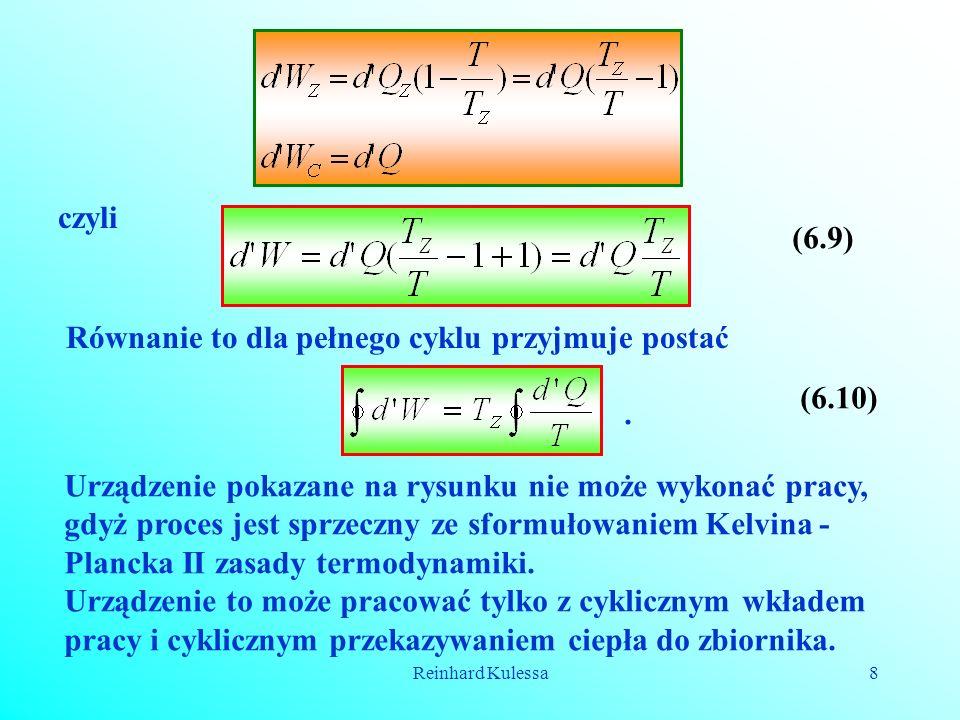 Równanie to dla pełnego cyklu przyjmuje postać