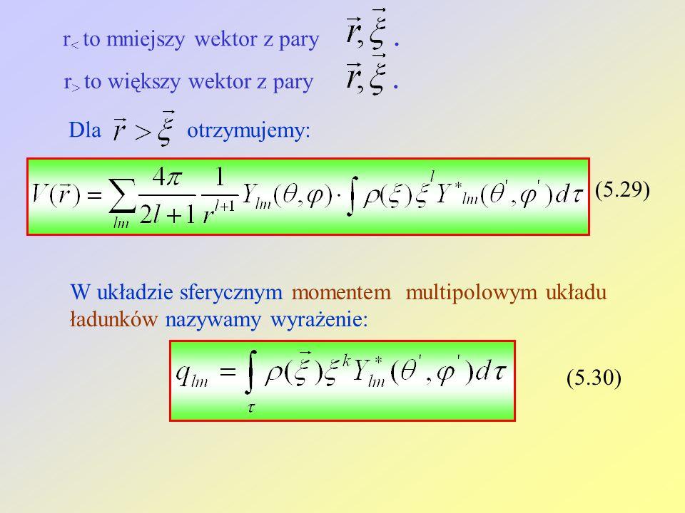 r< to mniejszy wektor z pary .