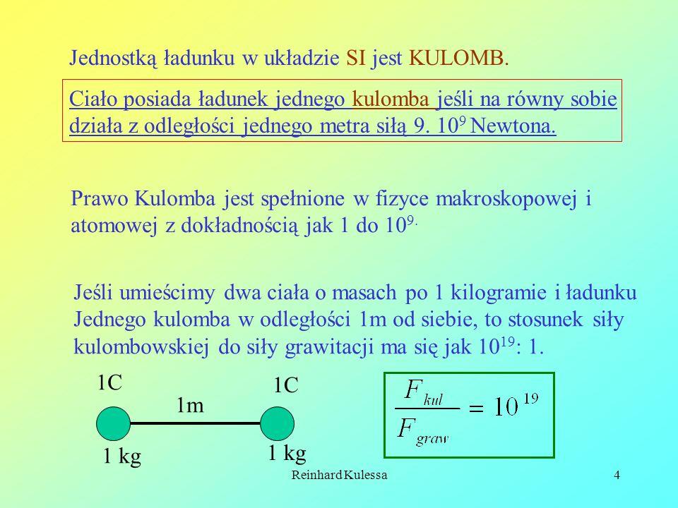 Jednostką ładunku w układzie SI jest KULOMB.