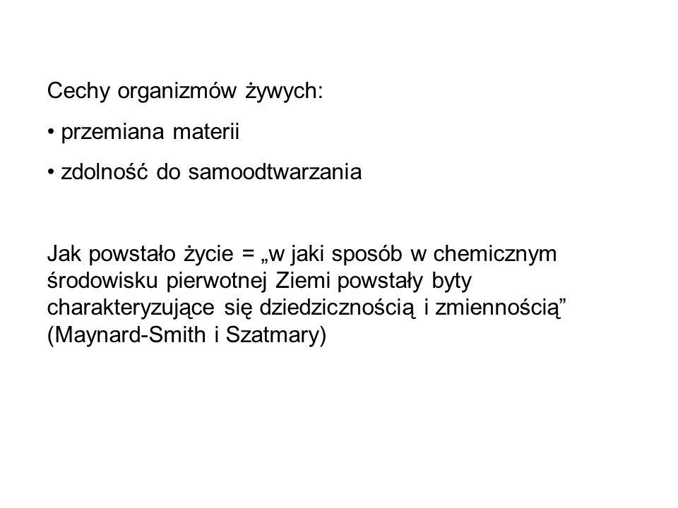 Cechy organizmów żywych: