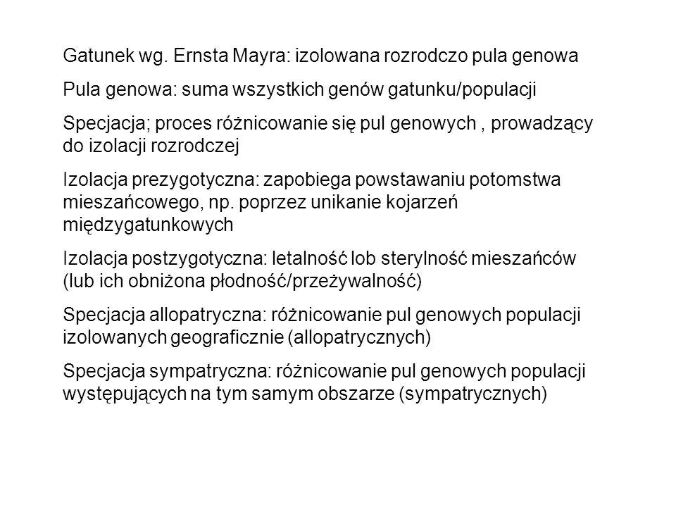 Gatunek wg. Ernsta Mayra: izolowana rozrodczo pula genowa