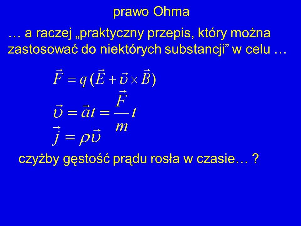 """prawo Ohma … a raczej """"praktyczny przepis, który można zastosować do niektórych substancji w celu …"""