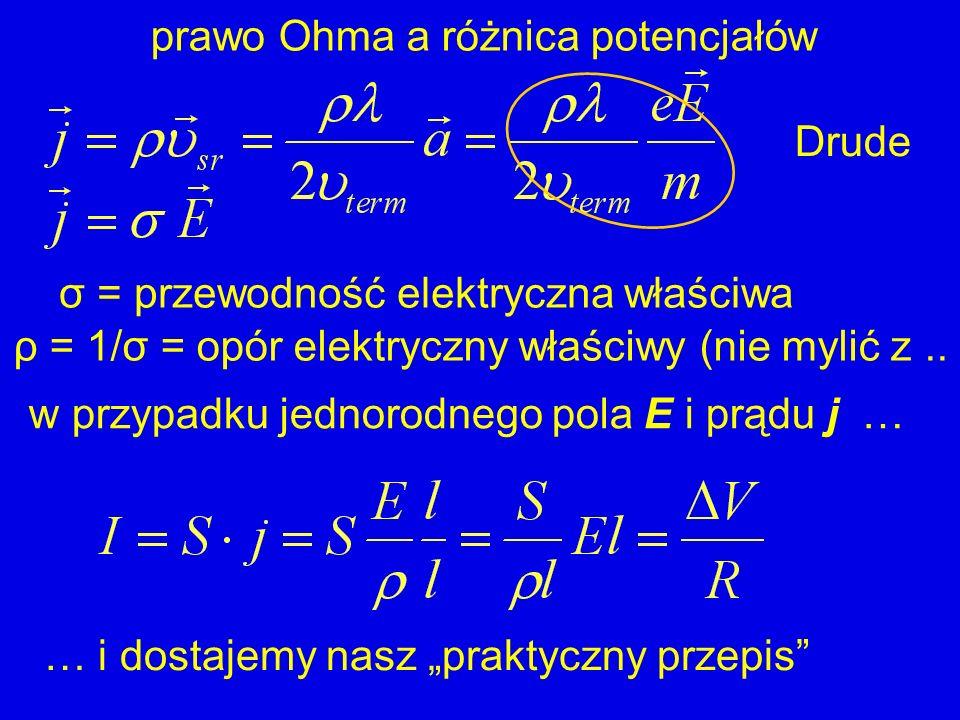 prawo Ohma a różnica potencjałów