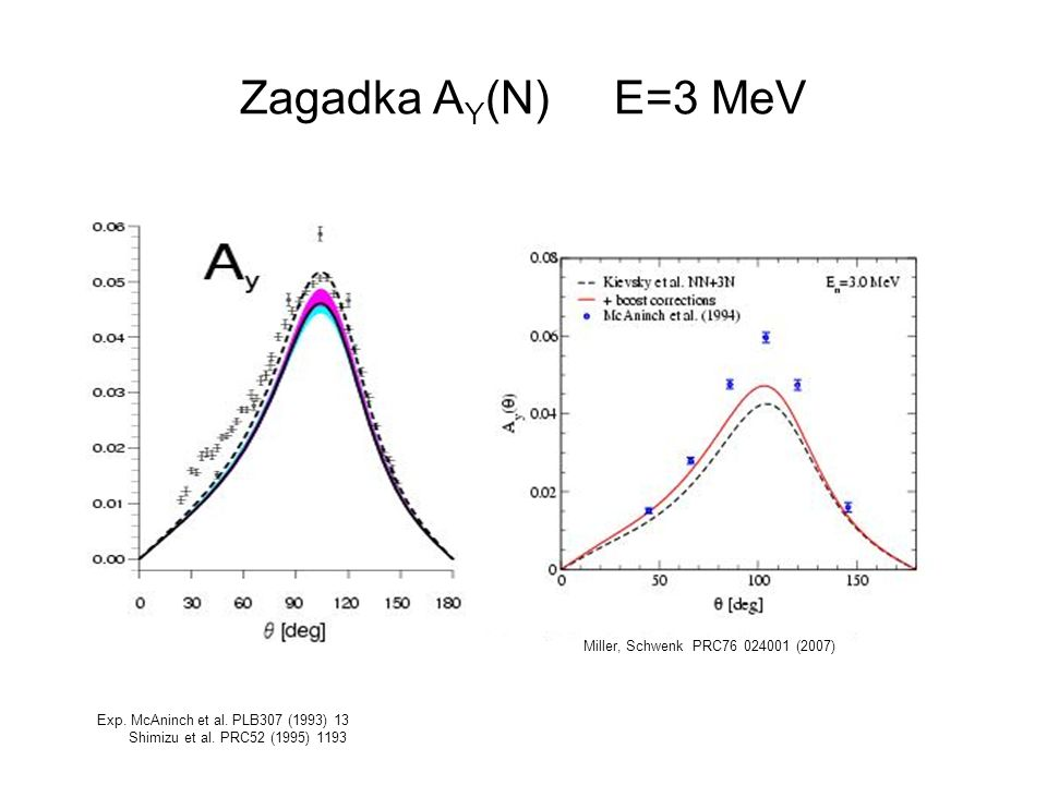 Zagadka AY(N) E=3 MeV Miller, Schwenk PRC76 024001 (2007)