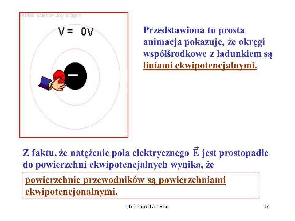 powierzchnie przewodników są powierzchniami ekwipotencjonalnymi.