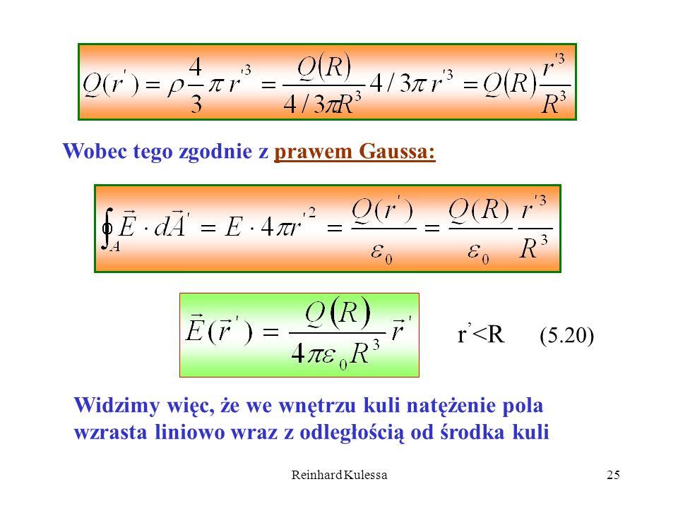 r'<R (5.20) Wobec tego zgodnie z prawem Gaussa: