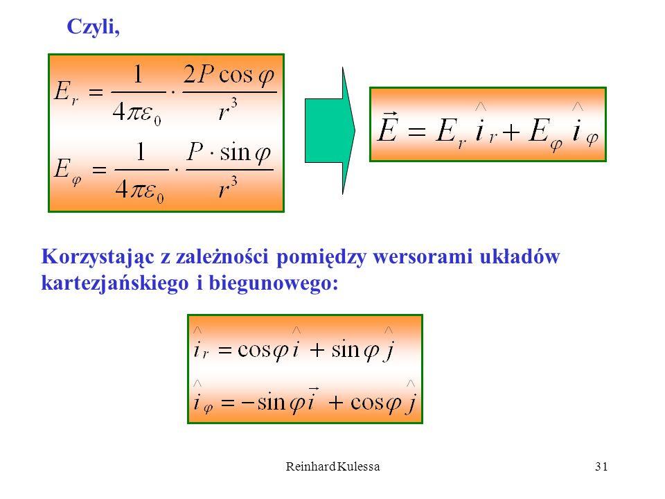 Czyli, Korzystając z zależności pomiędzy wersorami układów kartezjańskiego i biegunowego: Reinhard Kulessa.