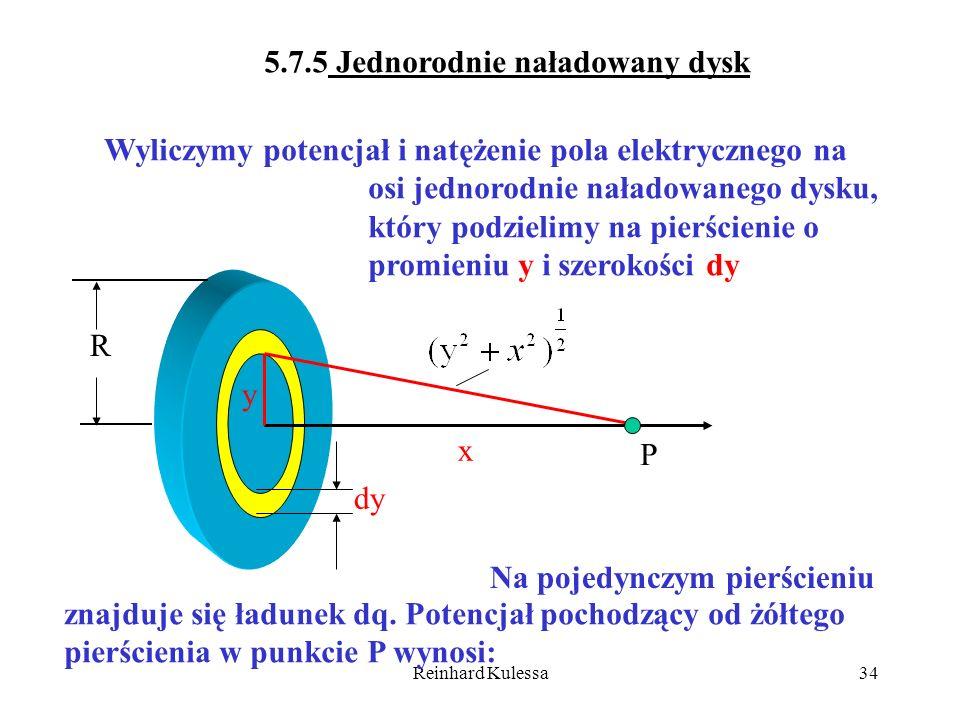 5.7.5 Jednorodnie naładowany dysk
