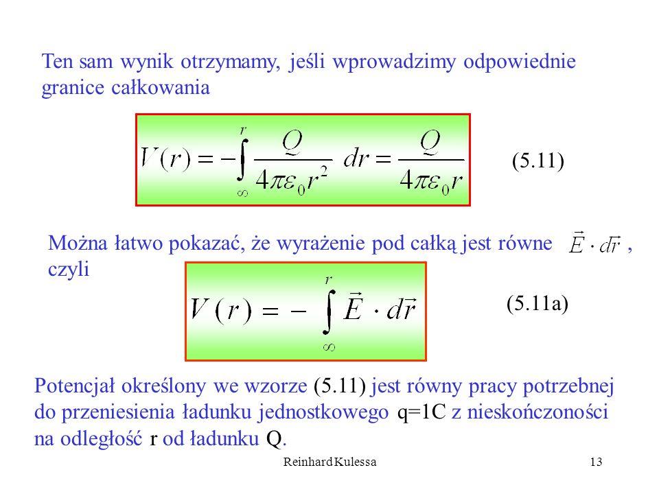Można łatwo pokazać, że wyrażenie pod całką jest równe czyli ,