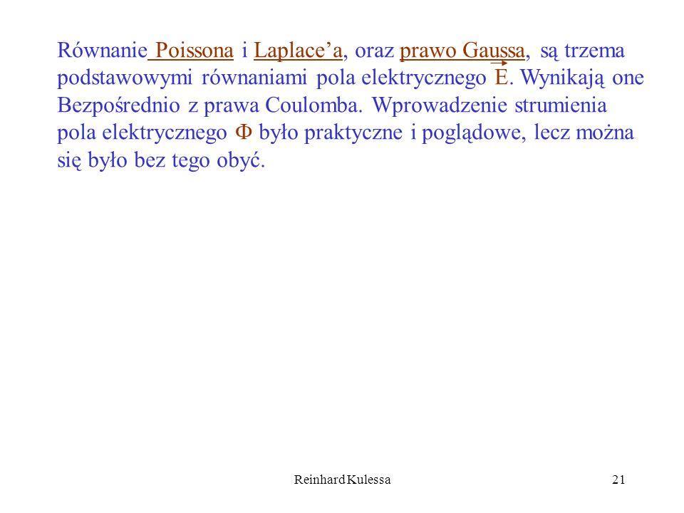 Równanie Poissona i Laplace'a, oraz prawo Gaussa, są trzema