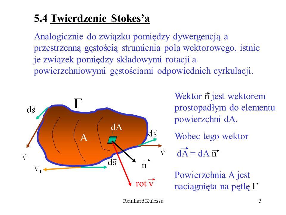 5.4 Twierdzenie Stokes'a A