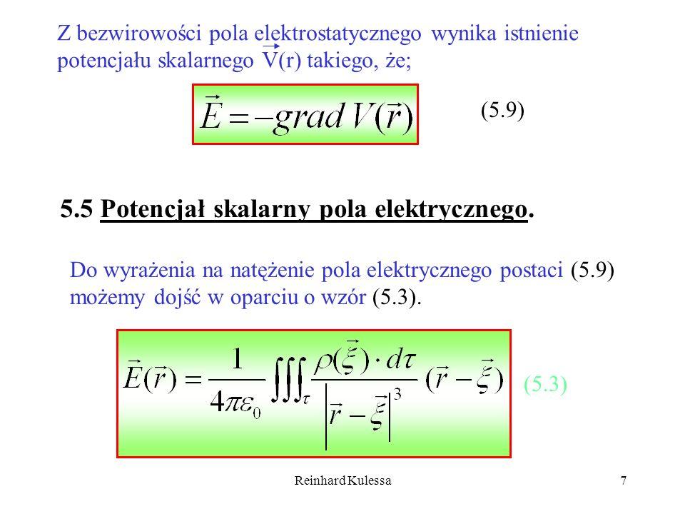 5.5 Potencjał skalarny pola elektrycznego.