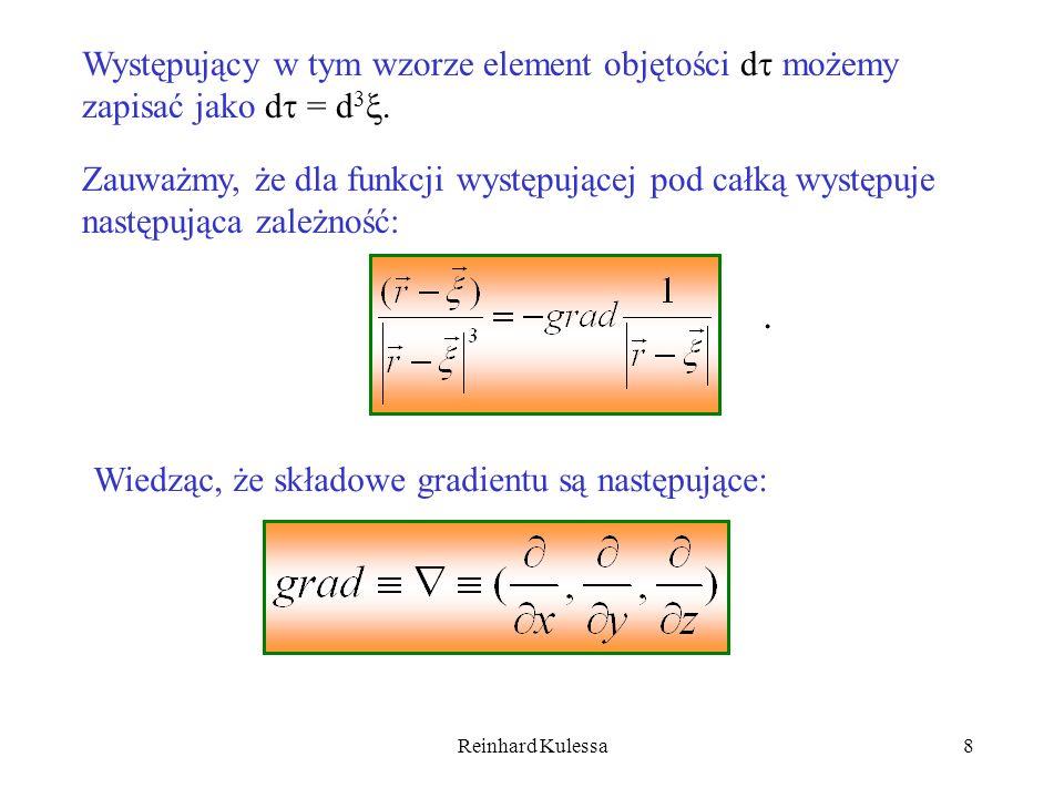 Występujący w tym wzorze element objętości d możemy zapisać jako d = d3.