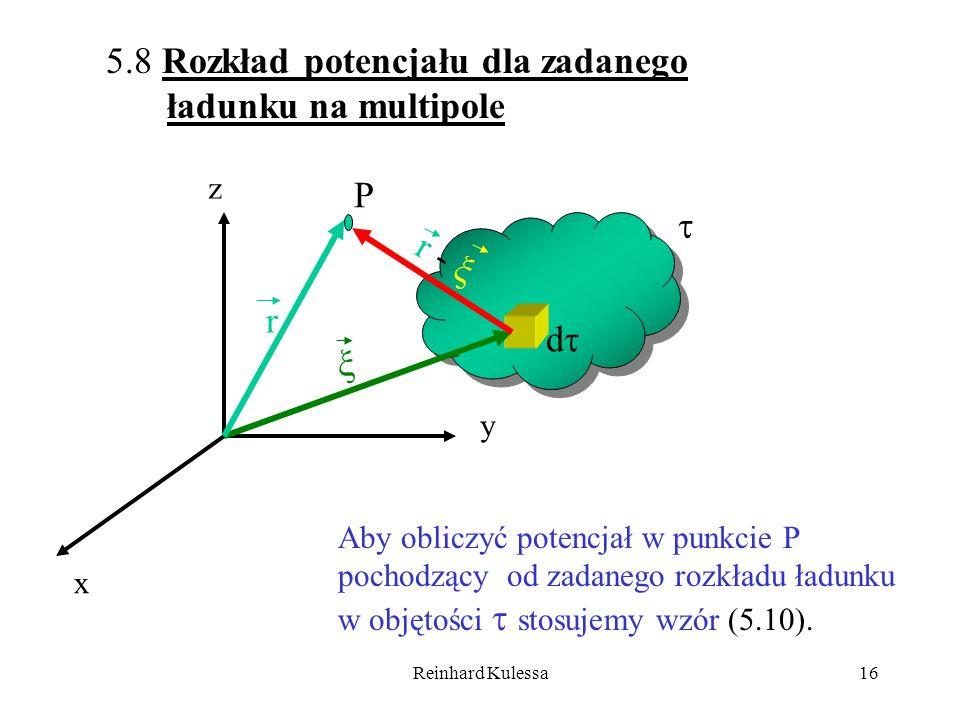 5.8 Rozkład potencjału dla zadanego ładunku na multipole