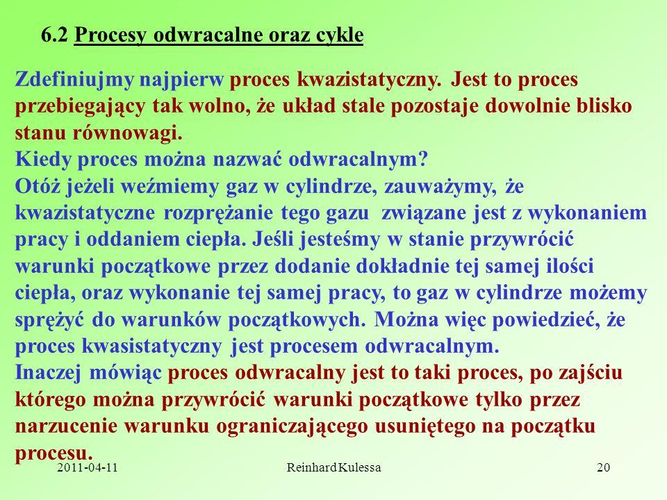 6.2 Procesy odwracalne oraz cykle