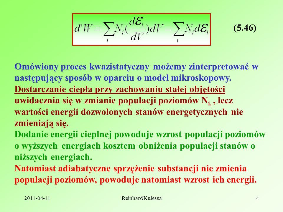 (5.46) Omówiony proces kwazistatyczny możemy zinterpretować w następujący sposób w oparciu o model mikroskopowy.