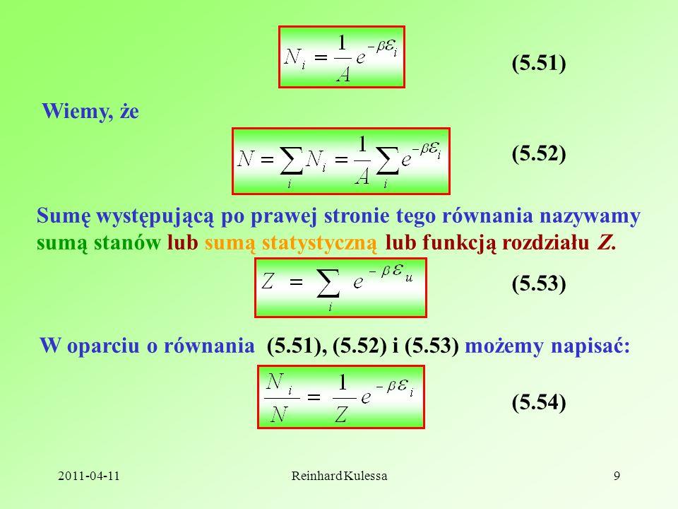 W oparciu o równania (5.51), (5.52) i (5.53) możemy napisać: