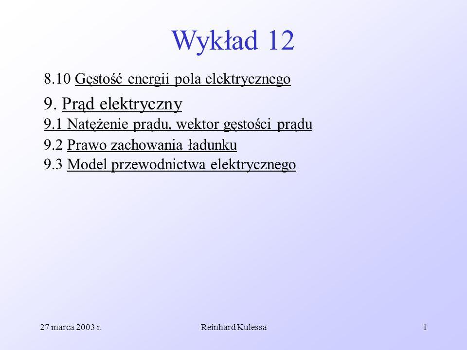 Wykład 128.10 Gęstość energii pola elektrycznego.