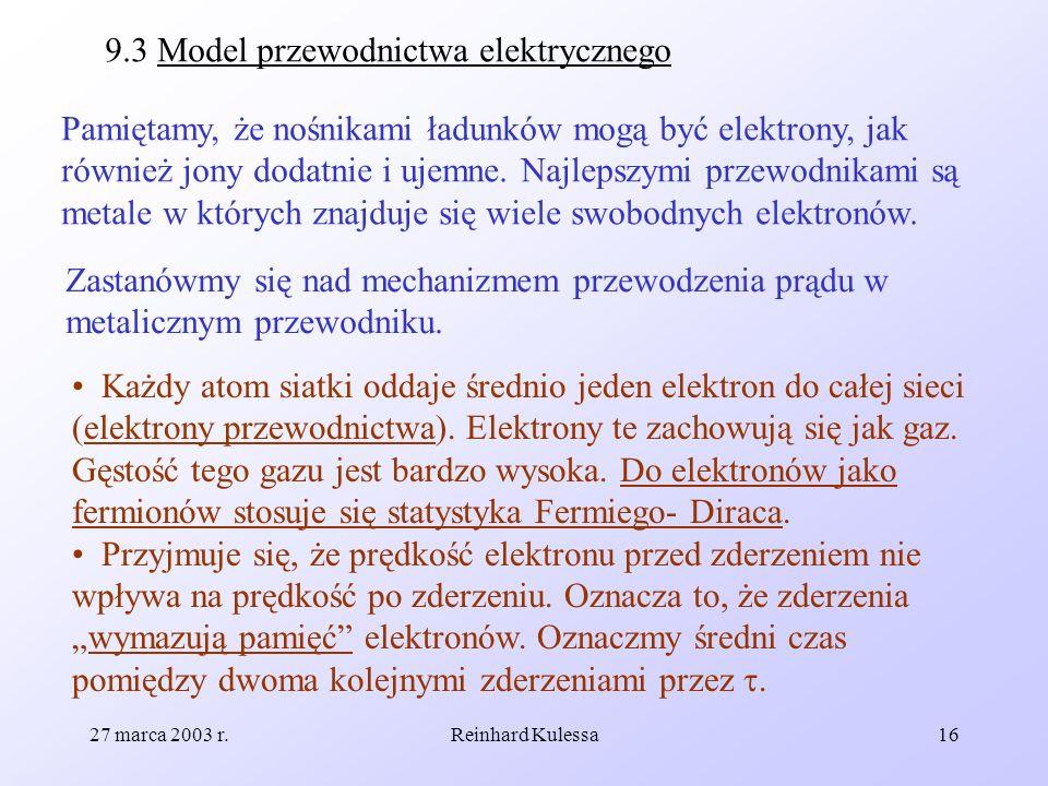 9.3 Model przewodnictwa elektrycznego