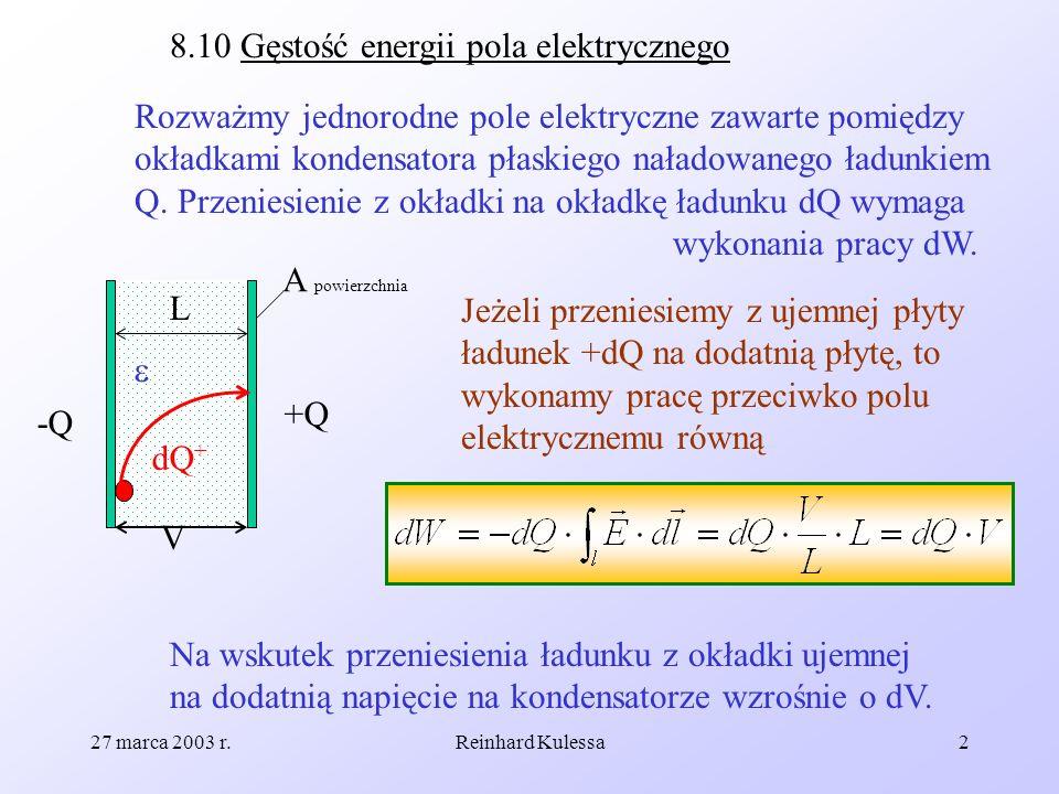 8.10 Gęstość energii pola elektrycznego