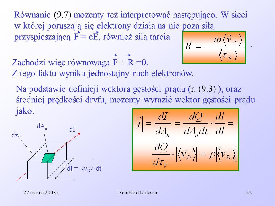 Równanie (9. 7) możemy też interpretować następująco