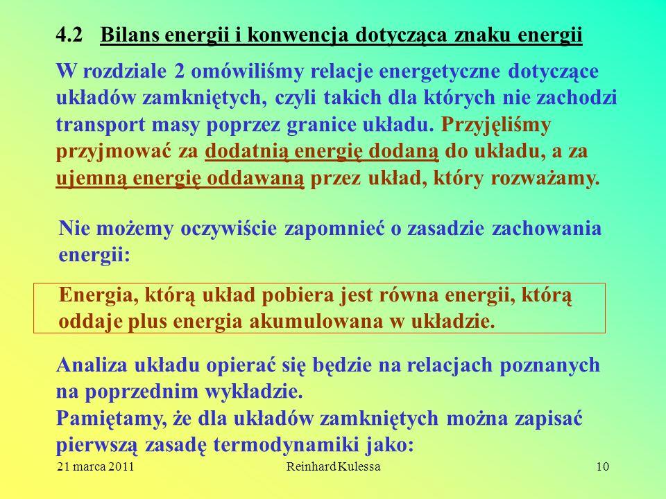 4.2 Bilans energii i konwencja dotycząca znaku energii