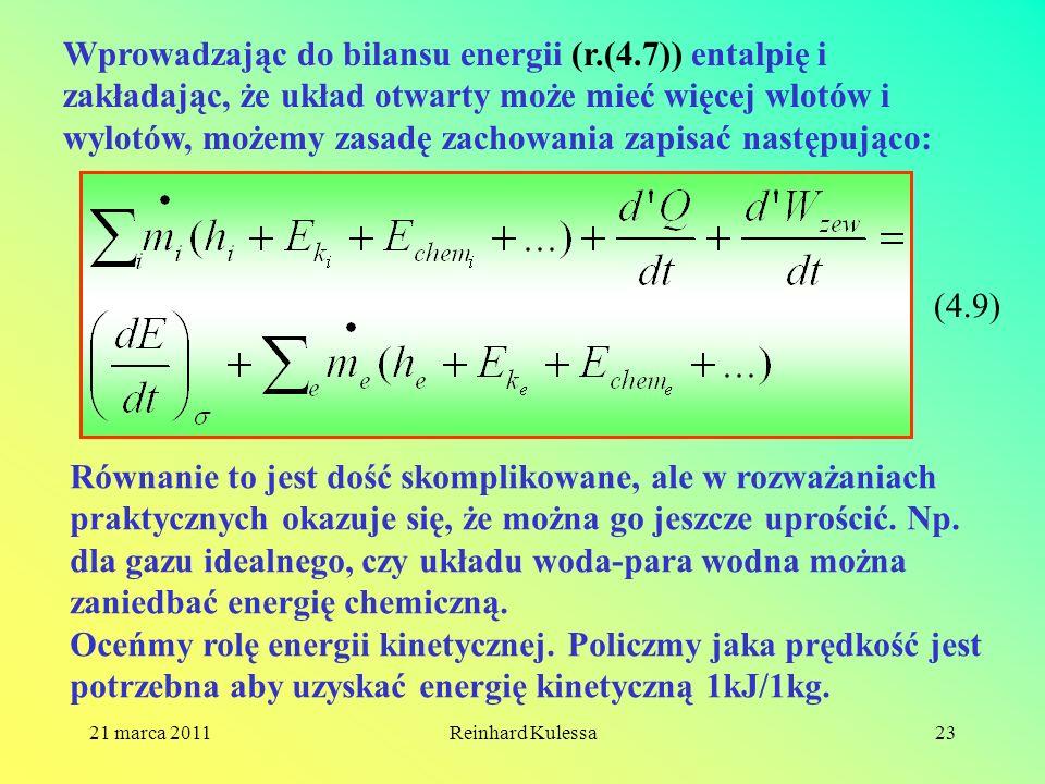 Wprowadzając do bilansu energii (r. (4