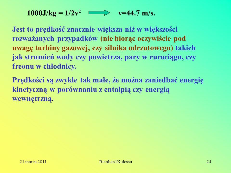 1000J/kg = 1/2v2 v=44.7 m/s.