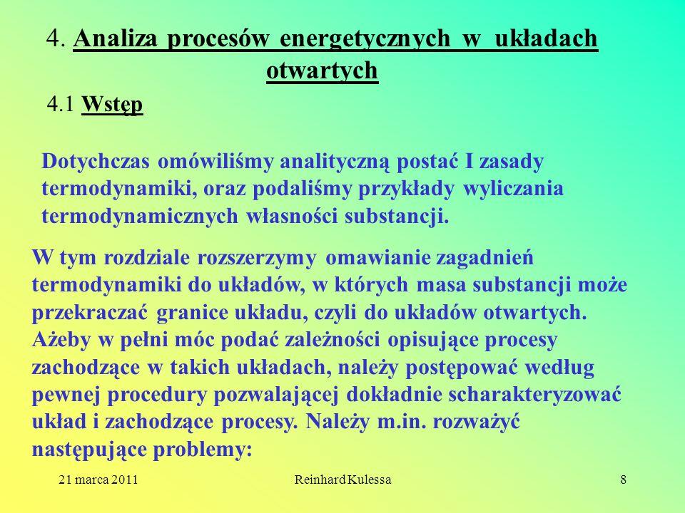 4. Analiza procesów energetycznych w układach otwartych