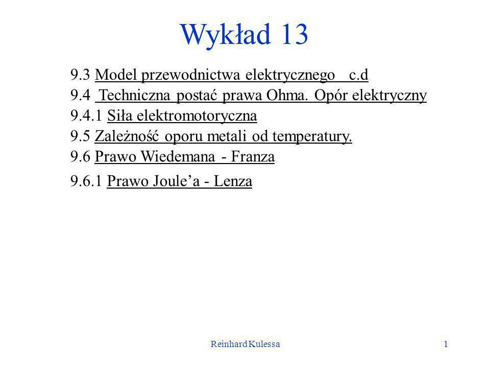 Wykład 13 9.3 Model przewodnictwa elektrycznego c.d
