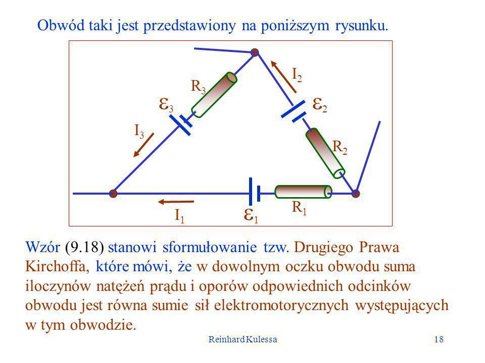 3 2 1 Obwód taki jest przedstawiony na poniższym rysunku. I2 R3 I3