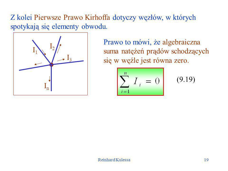 Z kolei Pierwsze Prawo Kirhoffa dotyczy węzłów, w których spotykają się elementy obwodu.