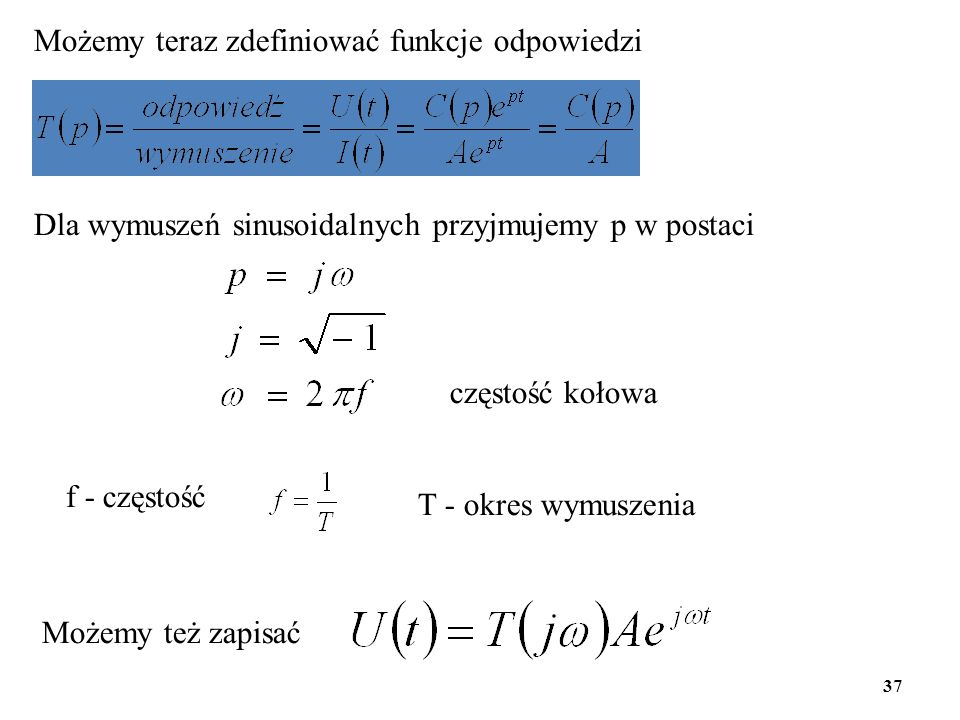 Możemy teraz zdefiniować funkcje odpowiedzi
