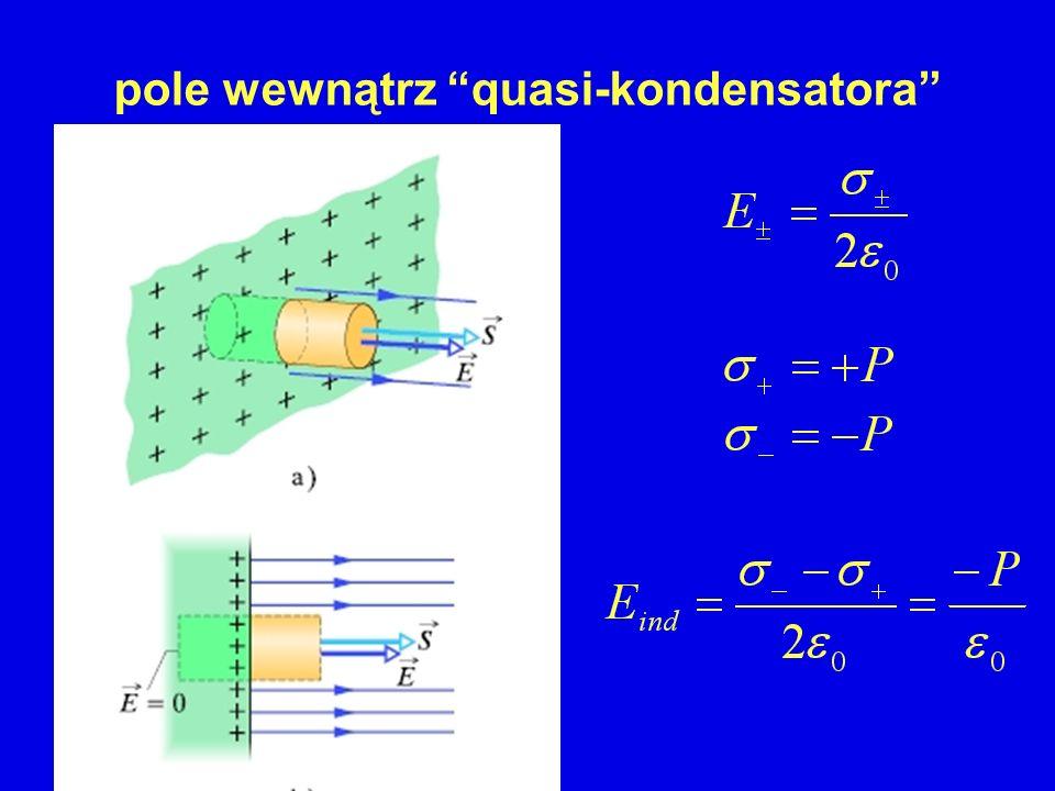 pole wewnątrz quasi-kondensatora