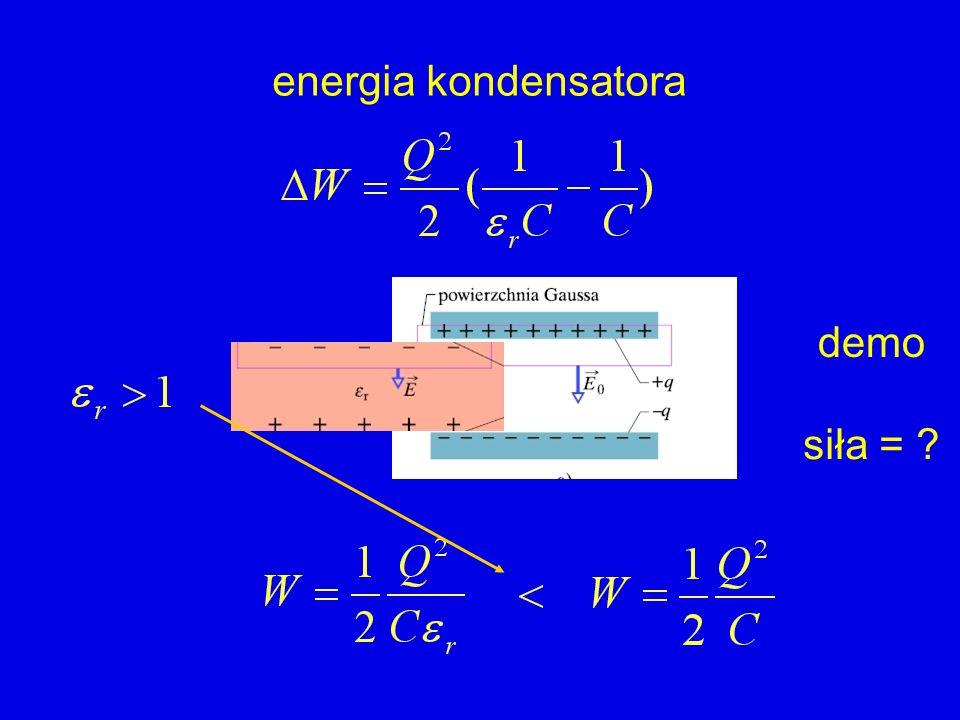 energia kondensatora demo siła =