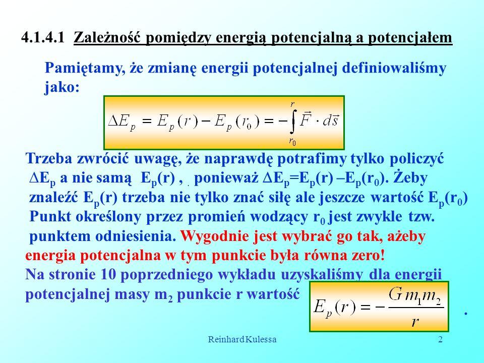 4.1.4.1 Zależność pomiędzy energią potencjalną a potencjałem
