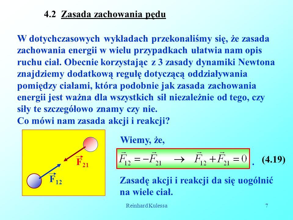 4.2 Zasada zachowania pędu