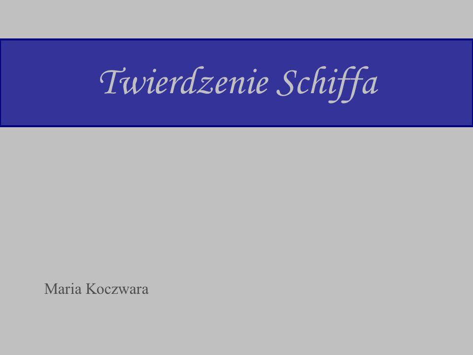 Twierdzenie Schiffa Maria Koczwara