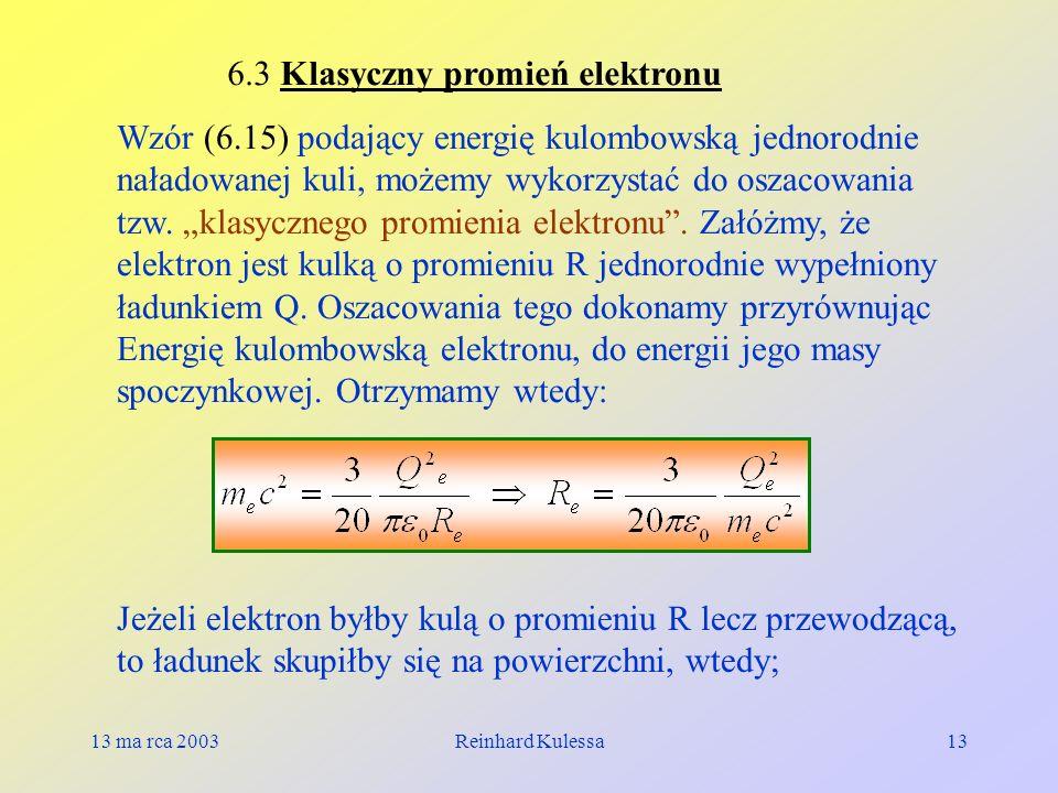 6.3 Klasyczny promień elektronu