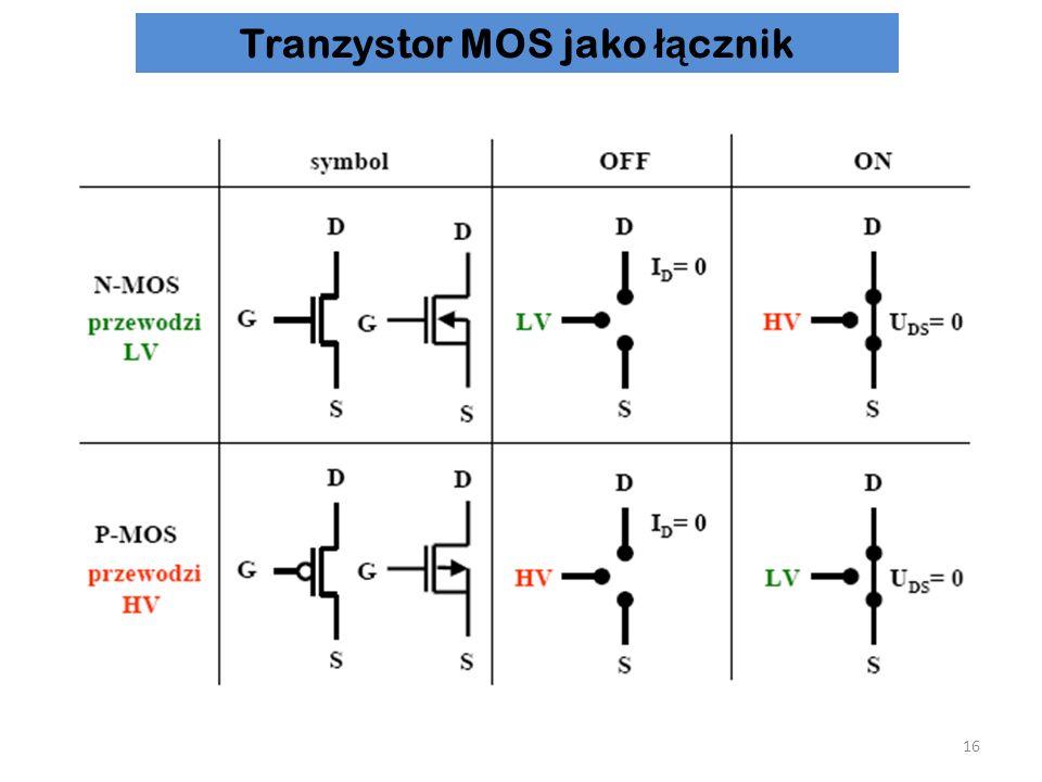Tranzystor MOS jako łącznik
