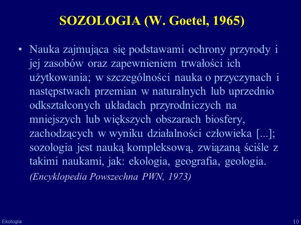 SOZOLOGIA (W. Goetel, 1965)