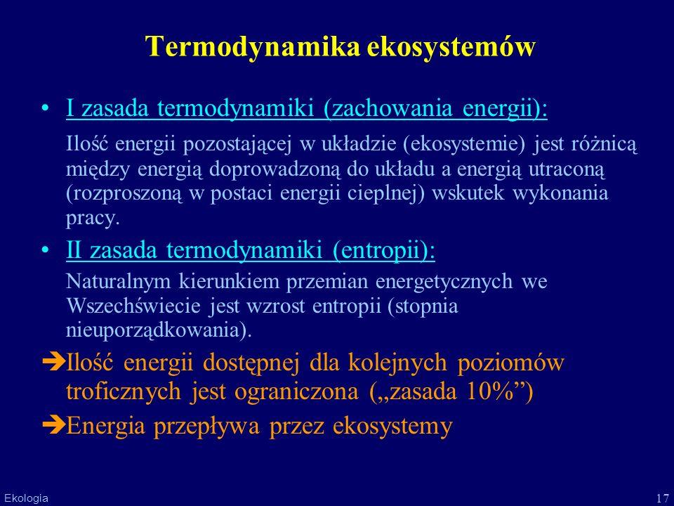 Termodynamika ekosystemów