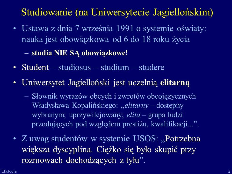 Studiowanie (na Uniwersytecie Jagiellońskim)