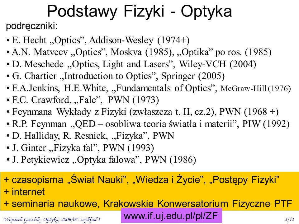 Podstawy Fizyki - Optyka